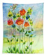 Flower Patch With Butterfly Tapestry