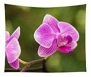 Flower - Pink Orchids Tapestry
