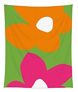 Flower Power 5- Art By Linda Woods Tapestry