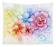 Flower Power Watercolor Tapestry