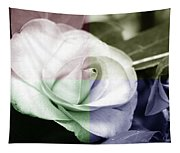 Flower Quadrant Colors Tapestry