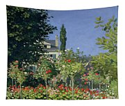 Flowering Garden At Sainte-adresse Tapestry