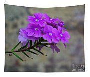 Flowers Against The Wall Tapestry