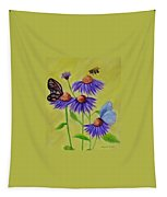 Flowers And Butterflies Tapestry