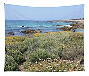 Flowers And Surf Tapestry
