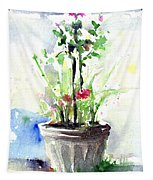 Flowers By The Pool Tapestry