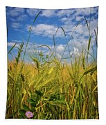 Flowers In The Wheat Tapestry
