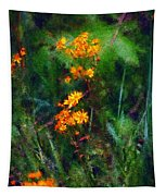 Flowers In The Woods At The Haciendia Tapestry