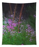 Flowers In The Woods Tapestry