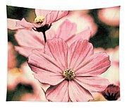 Flowers - Retro Cosmos Tapestry