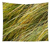 Flowing Green Grass  Abstract Tapestry