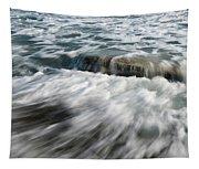 Flowing Sea Waves Tapestry