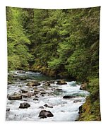 Flowing Through The Trees Tapestry