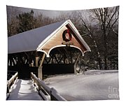 Flume Covered Bridge - Lincoln New Hampshire Usa Tapestry