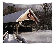 Flume Covered Bridge - Lincoln New Hampshire Usa Tapestry