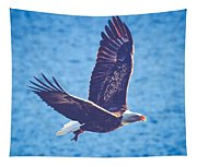 Fly By Eagle. 2 Of 3 Tapestry