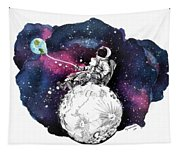 Fly Me To The Moon Tapestry