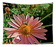 Fly On Flower Tapestry