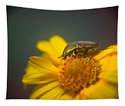 Focused June Beetle Tapestry