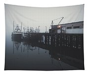 Fog Before Sunrise Tapestry
