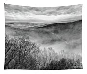 Fog In The Mountains - Pipestem State Park Tapestry