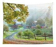 Fog On Sleepy Hollow Farm Tapestry