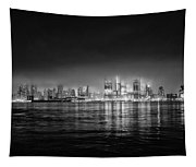 Fog Shrouded Midtown Manhattan In Black And White Tapestry