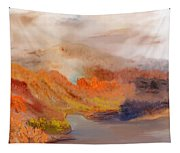 Foggy Autumnal Dream Tapestry