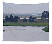 Foggy Cape Seashore Tapestry