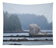 Foggy Morning On The Pacific Coast Tapestry