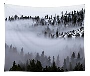 Foggy Mountain Pass Tapestry