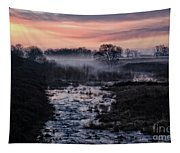 Foggy Sunrise At Chasewater Tapestry
