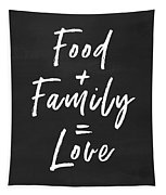Food Family Love- Art By Linda Woods Tapestry by Linda Woods