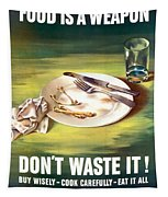 Food Is A Weapon -- Ww2 Propaganda Tapestry