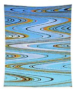 Foot Bridge Abstract Tapestry