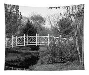 Footbridge In Black And White Tapestry