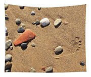Footprint On Sand Tapestry