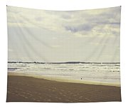 Footprints On The Shore Tapestry