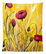 For The Love Of Poppies Tapestry