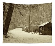 Forbidden Drive In Winter Tapestry