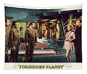 Forbidden Planet In Cinemascope Retro Classic Movie Poster Indoors Tapestry