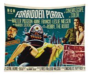 Forbidden Planet In Cinemascope Retro Classic Movie Poster Tapestry