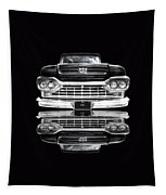 Ford F100 Truck Reflection On Black Tapestry