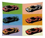 Ford Gt Pop Art Tapestry