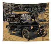 Ford Model T Made Using Found Objects Tapestry