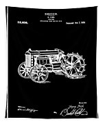 Ford Tractor Patent 1919 Black Tapestry