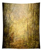 Forest Butterfly Moon Tapestry