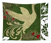 Forest Holiday Christmas Goose Tapestry