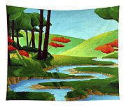 Forest Stream - Through The Forest Series Tapestry