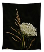 Formal Queen Anne's Lace Study Portrait Tapestry